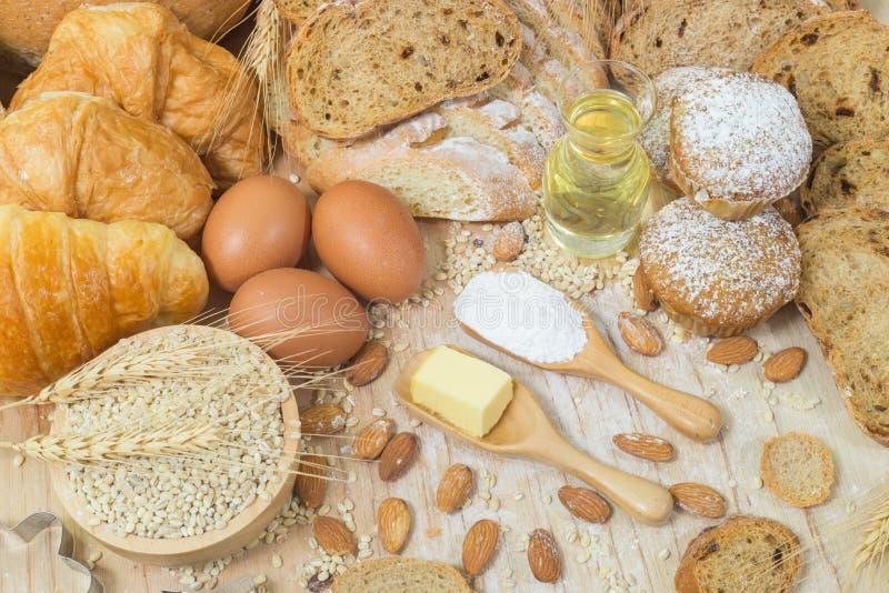Brot- und B?ckereiprodukte lizenzfreies stockbild