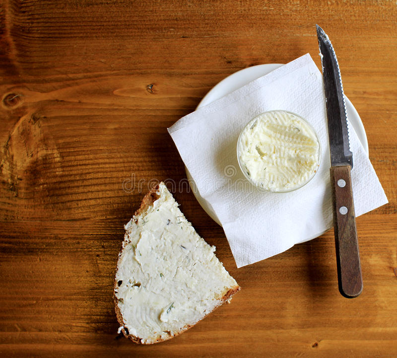 Brot und Butter lizenzfreies stockfoto