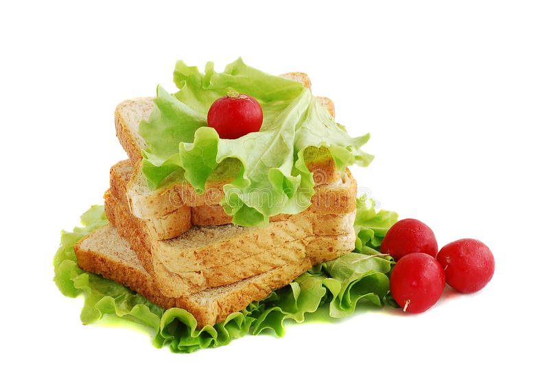 Brot und Rettich stockfoto