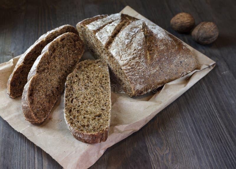 Brot und Walnuss stockfoto