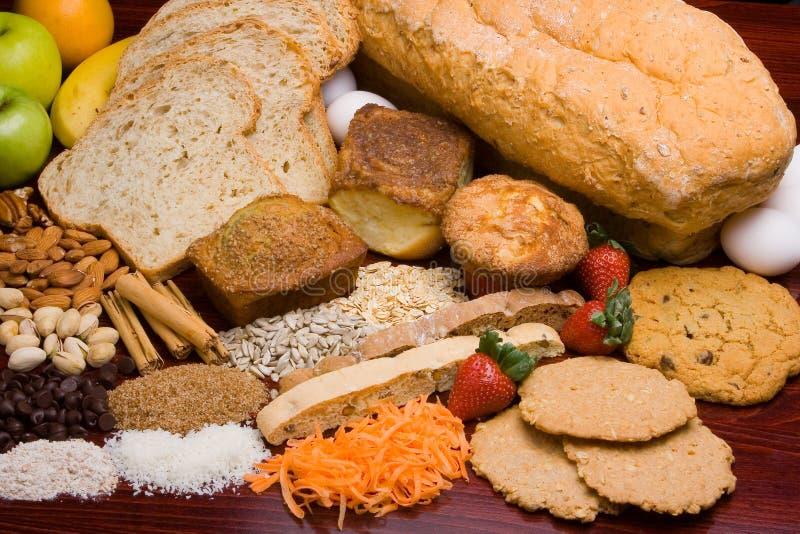 Brotbestandteile stockfotografie