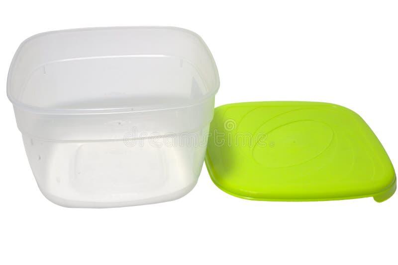 Brotdose für Transport und Microwellenheizung, Beschneidungspfad stockbild