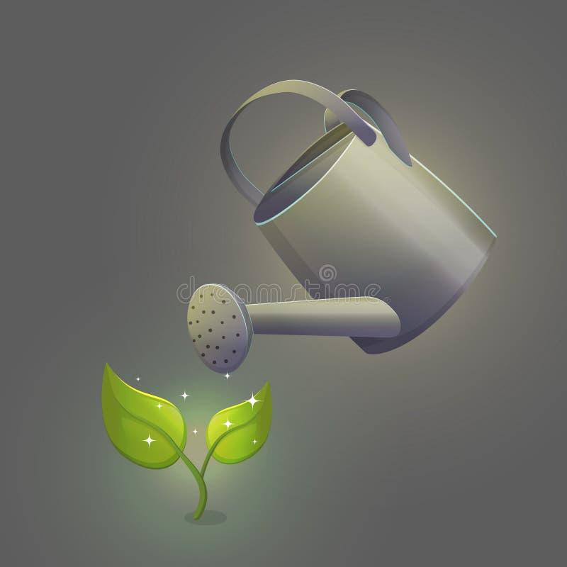 Brote de hidratación de la flor de la regadera ilustración del vector
