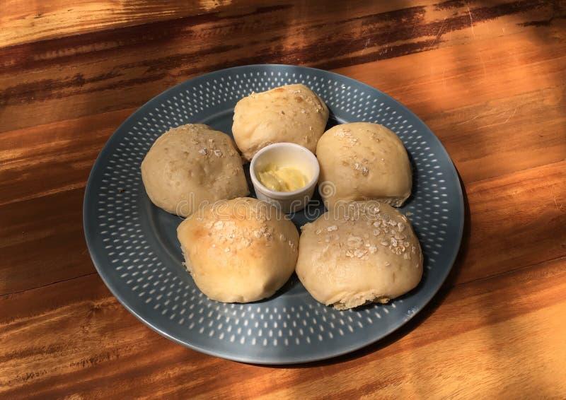Brote mit Butter stockfoto