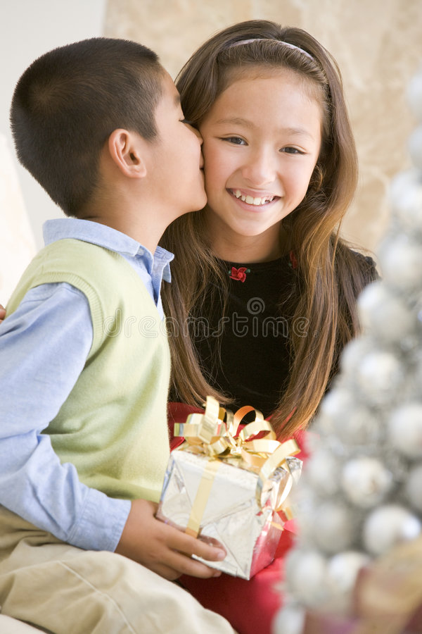 Download Brother Kissing His Sister On The Cheek Royalty Free Stock Images - Image: 7759489