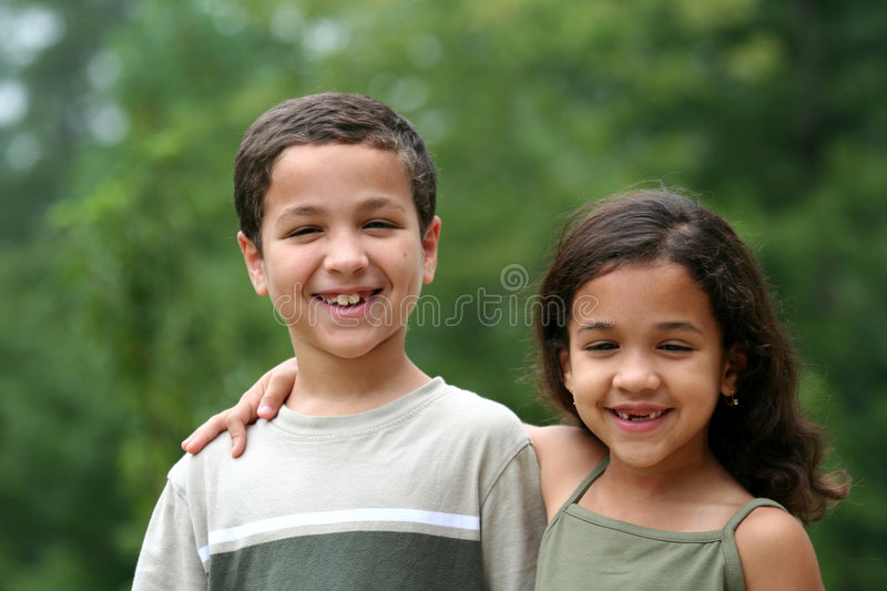 Brother and Sister stock image