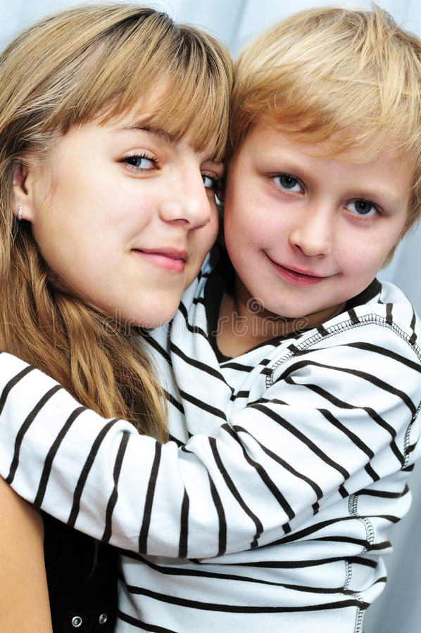 Download Brother and sister stock image. Image of love, embracing - 12440569