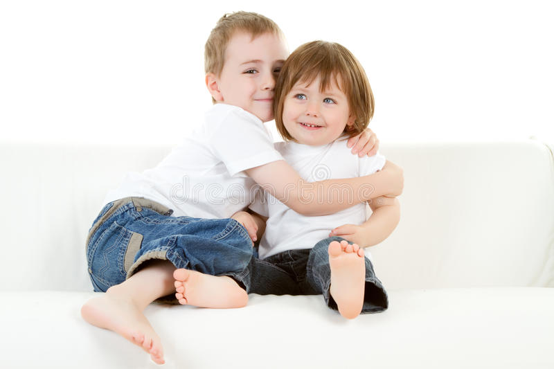 Download Brother and sister stock image. Image of kids, smiles - 14490501