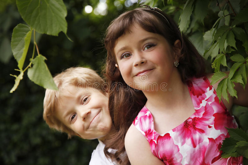 Brother and sister royalty free stock photo
