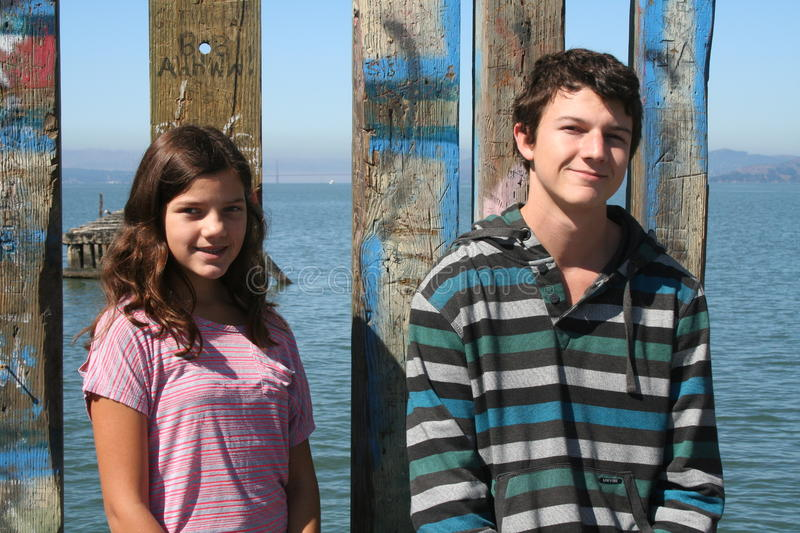 Download Brother and Sister stock photo. Image of ocean, people - 26336354