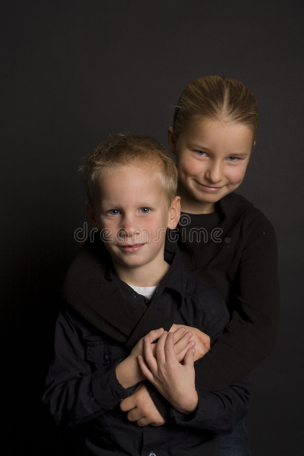 Download Brother and sister stock photo. Image of teenager, smile - 7377858