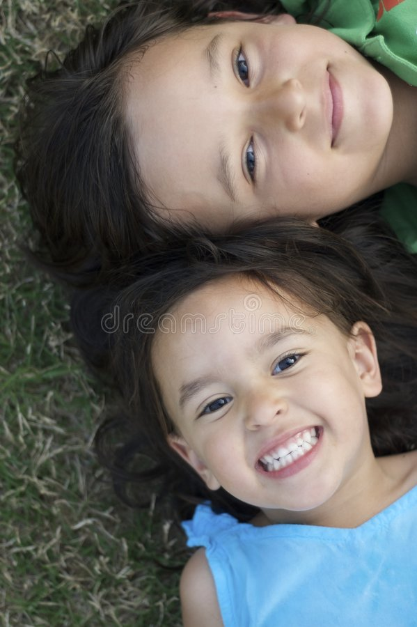 Download Brother and Sister stock photo. Image of multi, brunette - 9259028