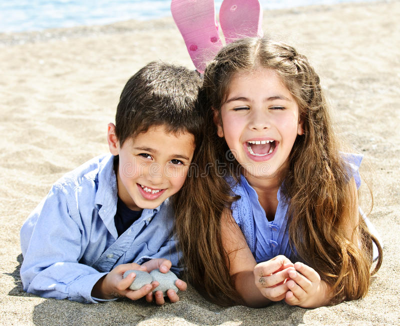 Download Brother And Sister At Beach Stock Image - Image: 10263119