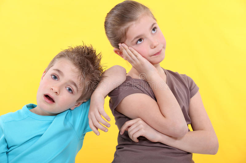 Download Brother And Sister Are Bored. Royalty Free Stock Image - Image: 29068636