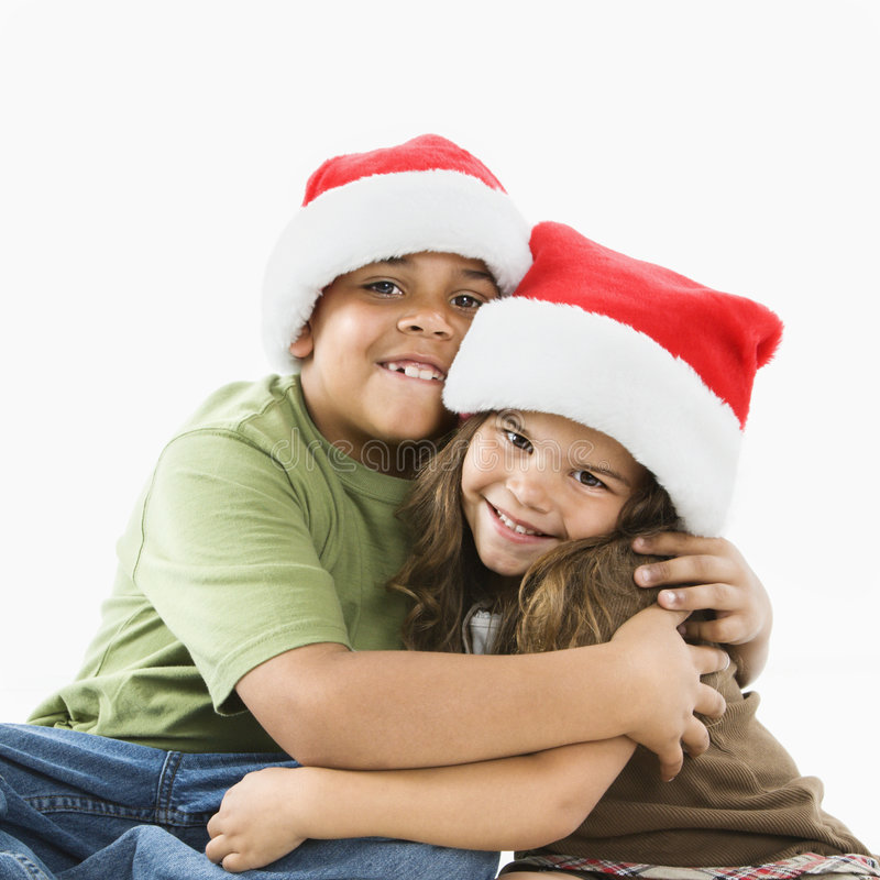 Download Brother And Sister Hugging, Stock Image - Image of sitting, latino: 5538603