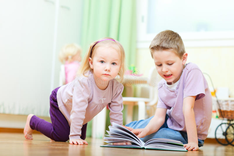 Download Brother And Sister In Kids Room Stock Photo - Image: 19870364