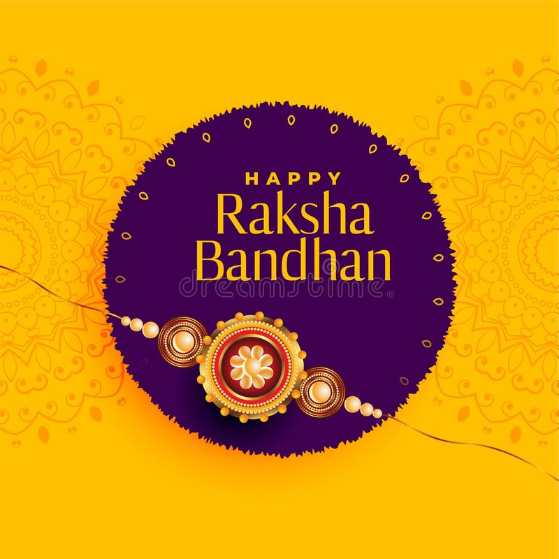 Brother and sister rakhi festival of raksha bandhan background royalty free illustration