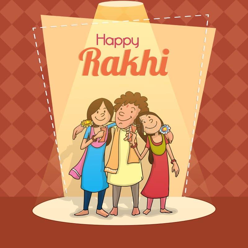 Rakhi Festival Quotes Brother: Brother And Sister For Raksha Bandhan Celebration. Stock