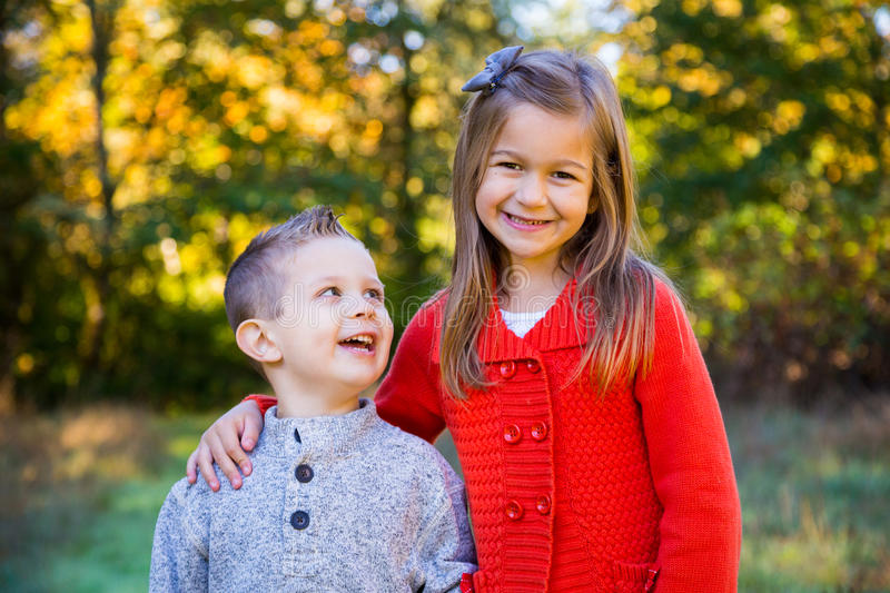Brother and Sister Together royalty free stock photo