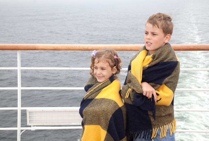 Download Brother And Sister Travel On Ship Royalty Free Stock Photography - Image: 27107777