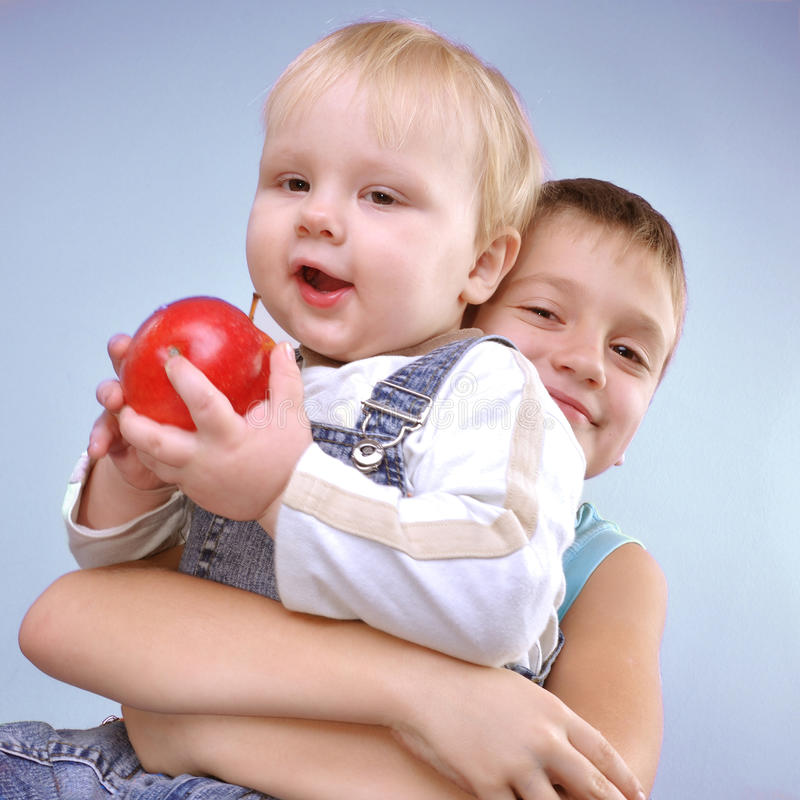 Download Brothers stock photo. Image of fruit, babyhood, happy - 21980546