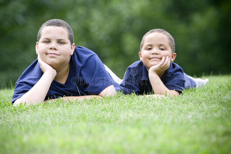Brothers royalty free stock photos