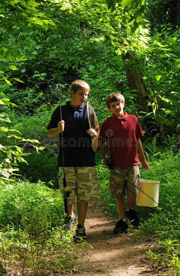 Free Brothers Going Fishing Stock Photo - 5468180