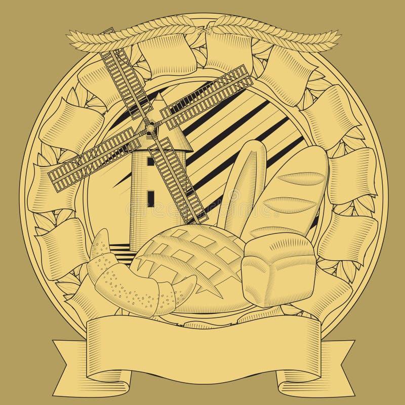 Brotmühlkornwappen bild vektor abbildung