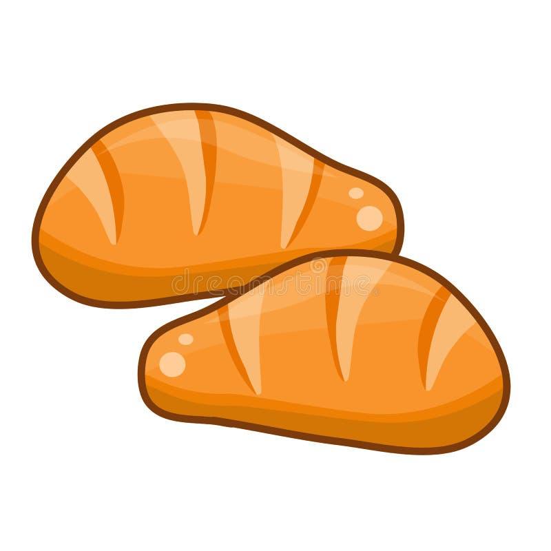 Brotnettes lokalisiert stock abbildung