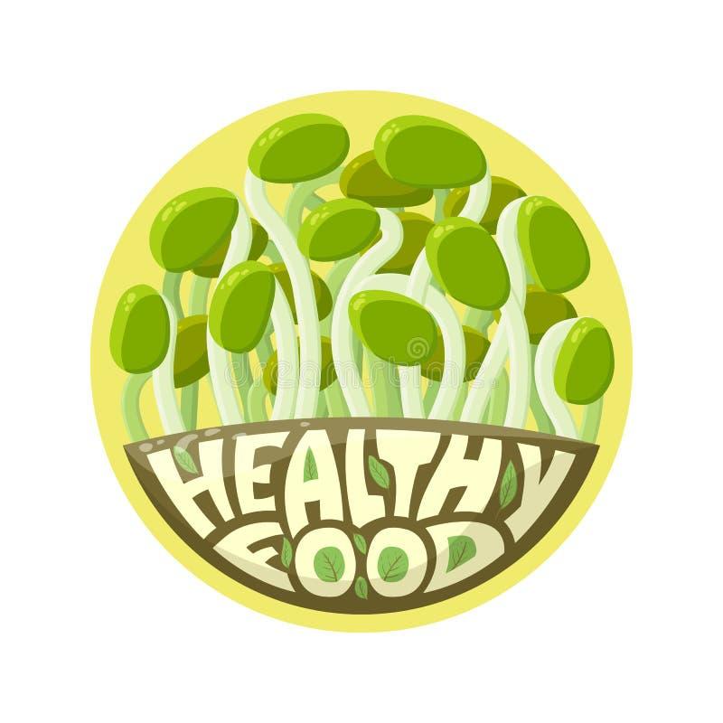 Brotos de Logo Healthy Food ilustração do vetor
