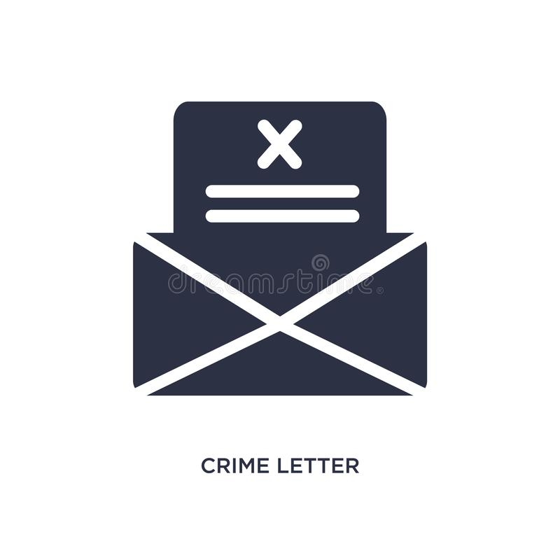 brotts- bokstavssymbol på vit bakgrund Enkel beståndsdelillustration från lag- och rättvisabegrepp vektor illustrationer