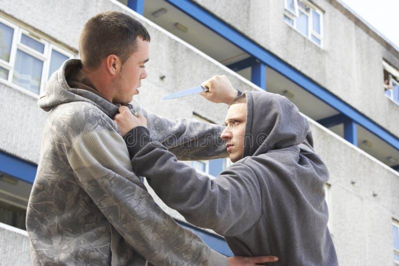 brotts- stads- knivgata royaltyfri bild