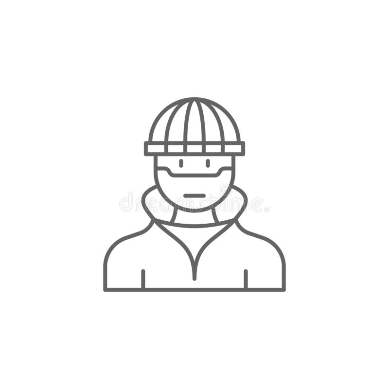 Brottslig översiktssymbol för rättvisa Beståndsdelar av lagillustrationlinjen symbol Tecknet, symboler och vektorer kan användas  royaltyfri illustrationer