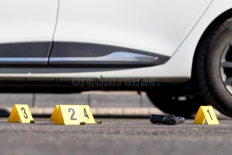 brottslig plats arkivfoton