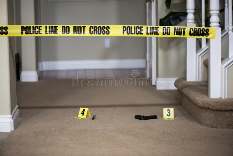 Brottsplats fotografering för bildbyråer