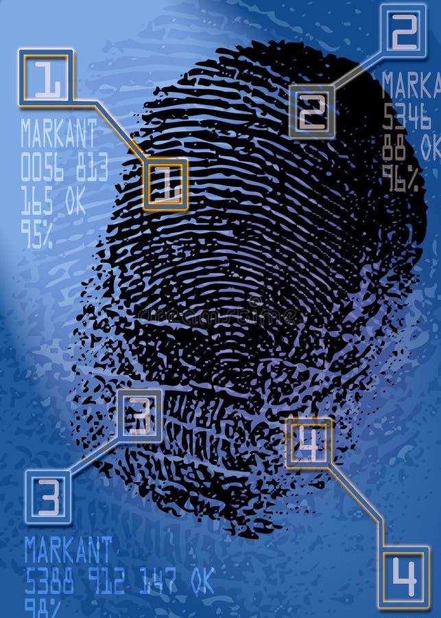 Brottsplats - Biometric säkerhetsbildläsare - ID royaltyfria foton