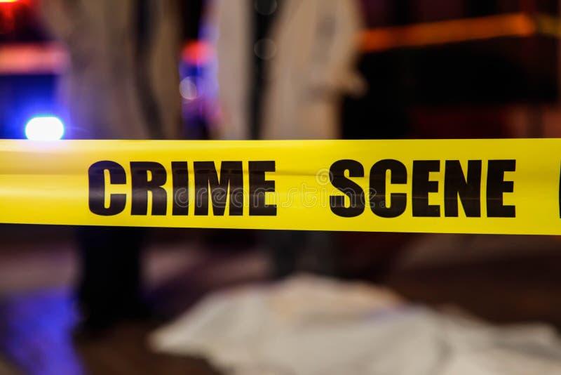 Brottsplatsband arkivbilder