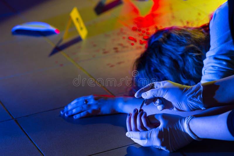 Brottsplatsutredning arkivfoto