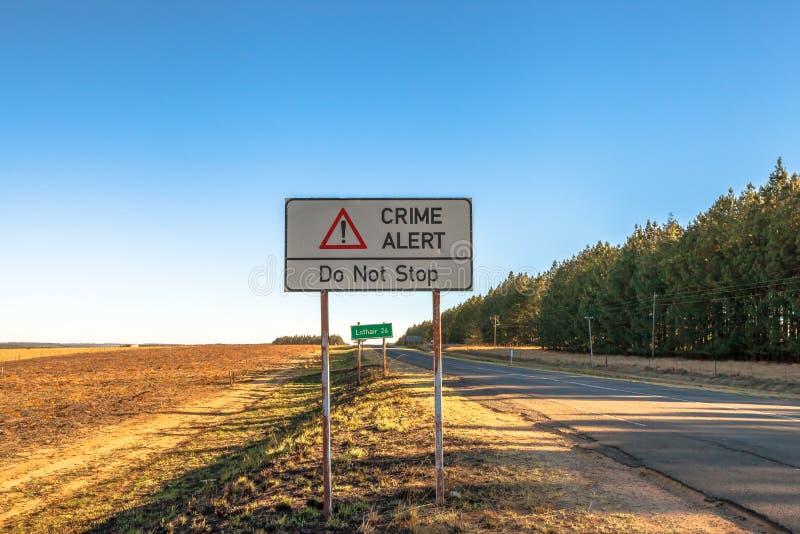Brottvarning: stoppa inte royaltyfri foto