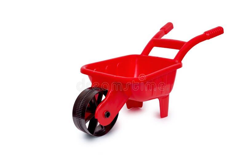 Brouette Toy Red photos libres de droits