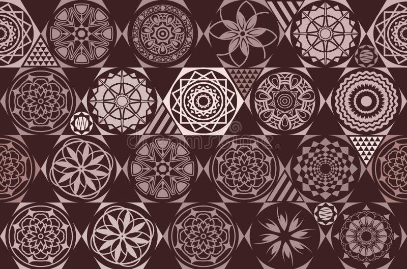 brougham Безшовная керамическая плитка с красочной заплаткой Винтажная multicolor картина в стиле turkish Бесконечную картину мож иллюстрация вектора