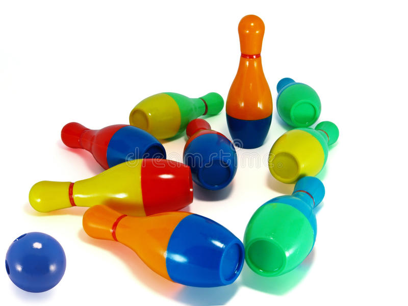 Download Brought down skittles stock photo. Image of stand, toys - 14852088