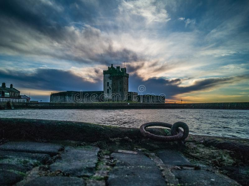 Broughty ferry castle dundee royalty free stock photography