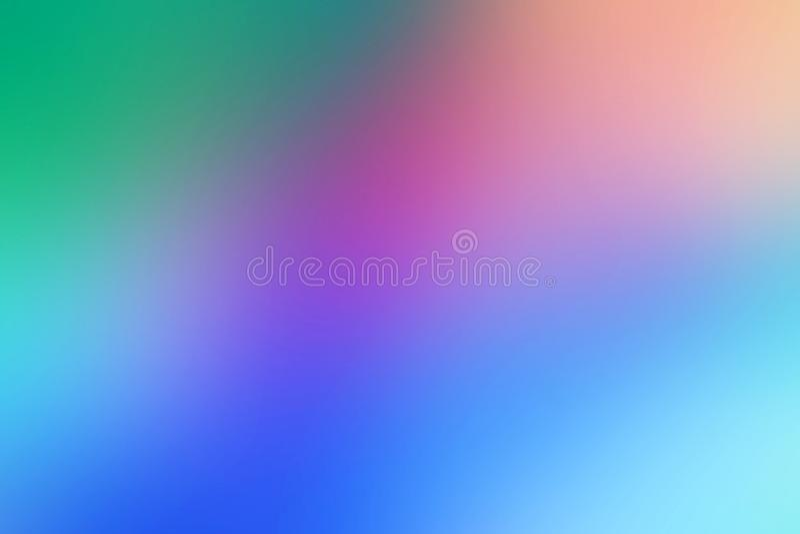 Brouillé abstrait conceptuel, gradient, fond multicolore et artistique illustration de vecteur