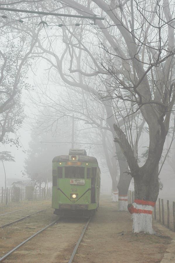 Brouillard à la ville de la joie photo libre de droits