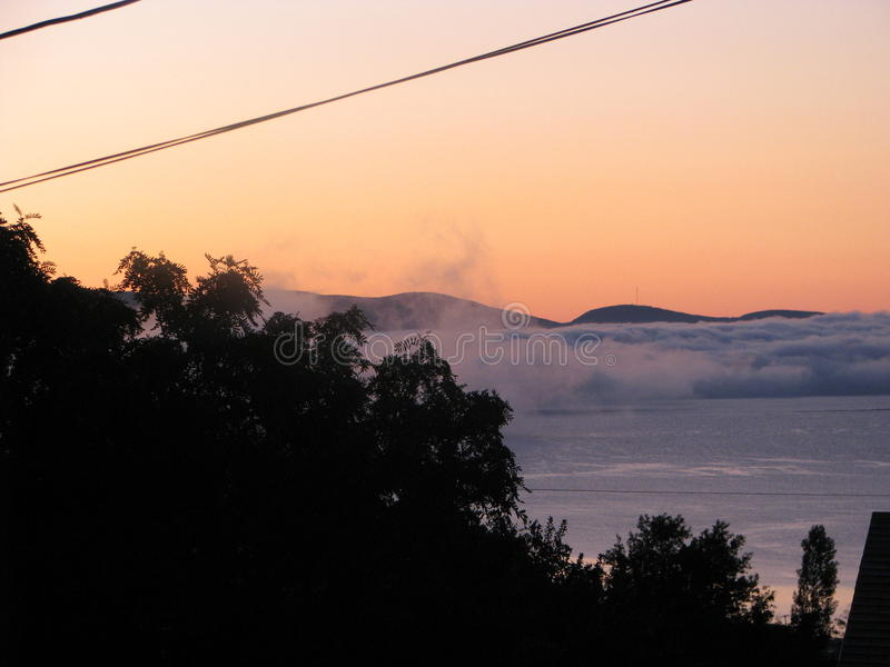 Brouillard étrange photographie stock libre de droits
