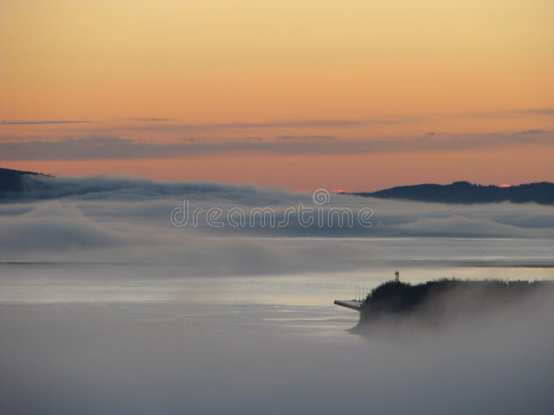 Brouillard étrange photo stock