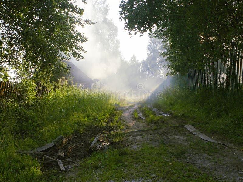 Download Brouillard photo stock. Image du soirée, trou, faisceau - 744232