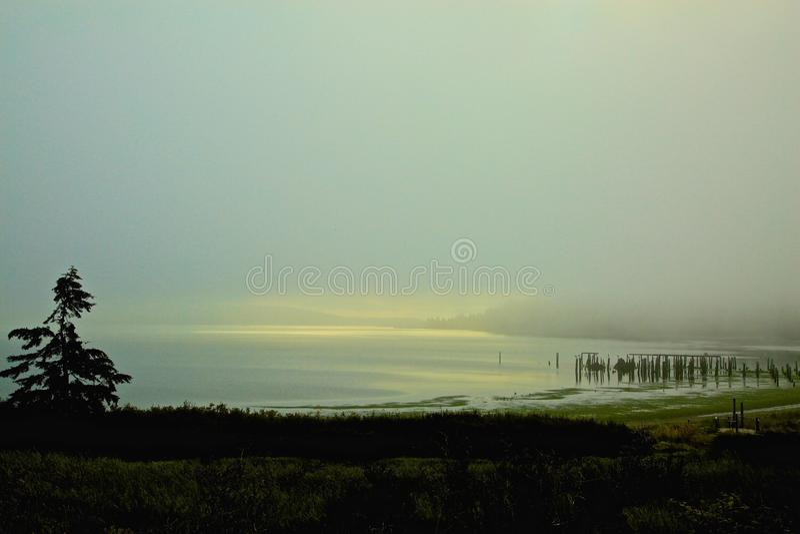 Brouillard Anacortes Washington photos libres de droits