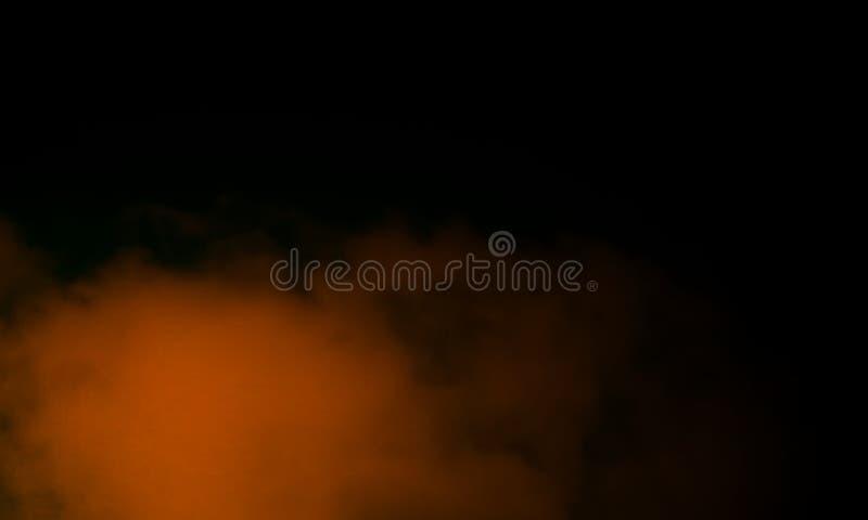 Brouillard brun abstrait de brume de fumée sur un fond noir photo libre de droits